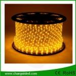 ไฟยาง LED Rope Light 36 leds แบบกลม 3 แกน สีเหลือง