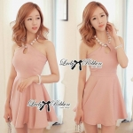 DR-LR-062 Lady Taylor Allure Elegant Pearl Mini Dress
