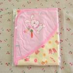 ผ้าห่อตัวเด็กอ่อน ขนาด 28x28 นิ้ว Cotton 100% - สีชมพู