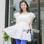 DR-LR-119 Lady Virginia Sweet Elegant Cotton Lace Dress