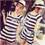 Lady Patty Summery Bold Striped Statement Set