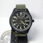 นาฬิกาข้อมือ U.S. NAVY ระบบอนาล็อก หน้าปัดดำพราย กันน้ำ 30 เมตร