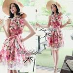 DR-LR-050 Lady Rosalyn Ribbon Mini dress