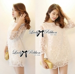 DR-LR-110 Lady Melanie Elegant Camelia White Organza Dress