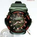 นาฬิกาข้อมือ US Submarine 2ระบบ (ดิจิตอล&เข็ม) สีดำแดง กันน้ำ 30 เมตร