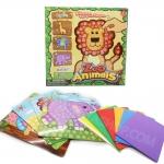 DI035 ของเล่นศิลปะ กิจกรรมยามว่าง เสริมสร้าง จิตนาการ Sticky Foam Art ซี่รีย์ Zoo Animals