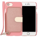 RAKUNI PU Leather Case Book Type with Strap for iPhone 7 ( Pink )