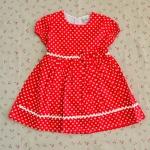 ไซส์ 4 ปี Laura Ashley ชุดกระโปรงเด็กผู้หญิง - สีแดง