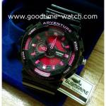 นาฬิกาข้อมือ us submarine 2ระบบ (ดิจิตอล&เข็ม) สีดำชมพู จอชมพู ไซส์Baby-G กันน้ำ 30 เมตร