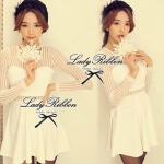 DR-LR-035 Lady Camilla Classy Luxurious Mini Dress (สีขาว)