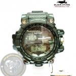 นาฬิกาข้อมือ US Submarine 2ระบบ (ดิจิตอล&เข็ม) สีเขียวจอดำ กันน้ำ 30 เมตร