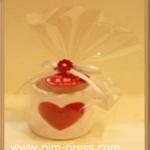 แก้วสัญลักษณ์หัวใจเล็ก 5x5 ซม.