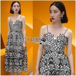 Lady Azelea Monochrome Lace Mini Dress L255-99C10