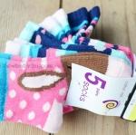 [ไซส์ 12-24 เดือน] ถุงเท้าเด็ก แพ็ค 5 คู่ ผ้า cotton 100% อย่างดี