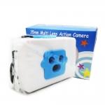 TY083 กล้องทอย Toy Camera โลโม่ 3 เลนท์ สีฟ้า-ขาว ไม่ต้องใช้ถ่าน ใช้ฟิล์ม 35mm (ฟิลม์ซื้อแยกต่างหาก)