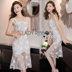 Lady Sophia Sweet Sexy Floral Embroidered Lace Dress L275-8903