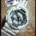 นาฬิกาข้อมือ us submarine 2ระบบ (ดิจิตอล&เข็ม) สีขาวสายแวว กันน้ำ 30 เมตร