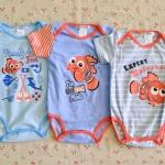 ไซส์ 6-9 เดือน บอดี้สูทเด็ก ลายปลานีโม แพ็ค 3 ตัว