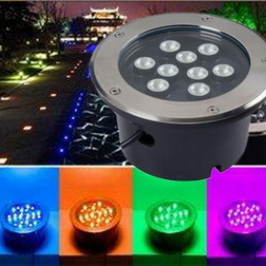 โคมไฟ LED ส่องต้นไม้ แบบฝังพื้น RGB