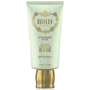 Mille Whitening Rose Baby Green Base SPF 30 PA++ (สินค้ามีลิขสิทธิ์ไทย มี อย. และ ติดสติกเกอร์ สคบ.)