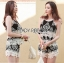 Lady Helena Black and White Lace Cropped Top and Shorts L271-6910 thumbnail 1