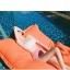 SM-V1-638 ชุดว่ายน้ำเอวสูง บราเกาะอกแต่งช่อลูกไม้สวยๆ กางเกงสีชมพู thumbnail 7