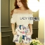 Lady Cathy Off-Shoulder Chiffon with Butterfly Printed Playsuit L260-7518 thumbnail 11