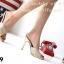 รองเท้าส้นเข็ม แบบหน้าสวม ดีไซน์หรู ตัดขอบกากเพชร thumbnail 6