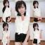 เสื้อลูกไม้ฉลุ แขนกุดคอปก งานสไตส์เกาหลีน่ารักๆไฮโซสุดๆ thumbnail 1