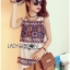 Lady Helena Hippie Chic Printed Tank Top and Embroidered Cotton Shorts Set L266-7906 thumbnail 13