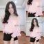 เสื้อชีฟองสไตส์เกาหลีน่ารักๆไฮโซสุดๆแต่งดอกฟรุ่งฟริ้งปลายแขน thumbnail 4