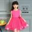 GD021 ชุดเดรสสีชมพูเข้ม ประดับดอกไม้ (เด็กโต) ชุดออกงานเด็กหญิง thumbnail 1