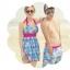 SM-V1-359 ชุดว่ายน้ำทรงชุดแซก สีฟ้า-ชมพู ลายดอกไม้ (ชุดแซก+กางเกงขาสั้น) thumbnail 7