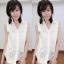 เสื้อลูกไม้ฉลุ แขนกุดคอปก งานสไตส์เกาหลีน่ารักๆไฮโซสุดๆ thumbnail 8