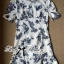 DR-LR-277 Lady Sweet Pearl Collar Blue Floral Blooming Chinoise Dress thumbnail 11