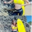 SM-V1-553 ชุดว่ายน้ำแขนยาวขายาว เซ็ต 4 ชิ้น สีดำตัดขอบลายเหลืองสวยๆ yellow-black soldier thumbnail 8