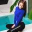 SM-V1-648 ชุดว่ายน้ำแขนยาว+ขายาว เสื้อคลุมสีน้ำเงิน เซ็ต 4 ชิ้น (บรา+บิกินี่+ขายาว+แขนยาวซิป) thumbnail 7
