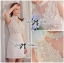 DR-LR-129 Lady Kelly Haute Glam Flowery Dress in White thumbnail 11