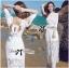 Lady Rachel White Chiffon Top and Embroidered Organza Lace Set L158-79B05 thumbnail 2