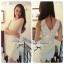 DC-PP-006 Lady Lolita Sweet Sexy White V-back Lace Dress thumbnail 1