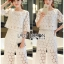 Lady Ariana Round n' Round Cotton Embroidered Top and Pants Set L273-8911 thumbnail 3