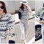 Lady Leslie Lace Embroidered Jersey and grey Culottes Set L266-79C03 thumbnail 10