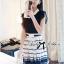 DR-LR-209 Lady Claire Mixed Print Sleeveless Insert Chiffon Shirt Dress thumbnail 14