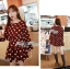 Lady Dree Monochrome Heart-Shaped Print Mini Dress L126-59A04 thumbnail 3