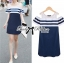 DR-LR-268 Lady Isla Glam Chic Navy Blue Striped Dress thumbnail 3
