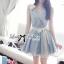 DR-LR-065 Lady Maria Pretty Delicate Pearly Denim Dress thumbnail 3