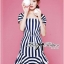 DR-LR-223 Lady Jenny '50s Style Mixed Striped Dress thumbnail 5