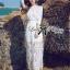 Lady Rachel White Chiffon Top and Embroidered Organza Lace Set L158-79B05 thumbnail 4