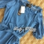 DR-LR-231 Lady Adele Off-shoulder Denim Ribbon Dress thumbnail 14
