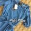 DR-LR-231 Lady Adele Off-shoulder Denim Ribbon Dress thumbnail 14
